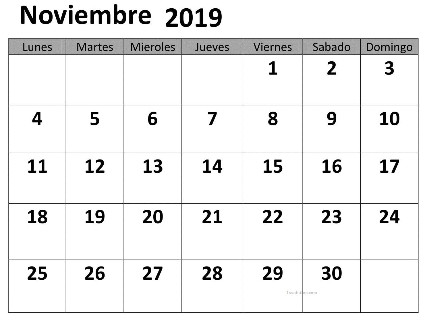 Calendario Enero 2019 Chile Formato