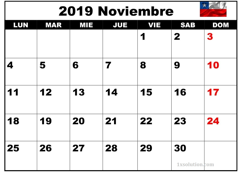 Calendario Noviembre 2019 Argentina Con Notas