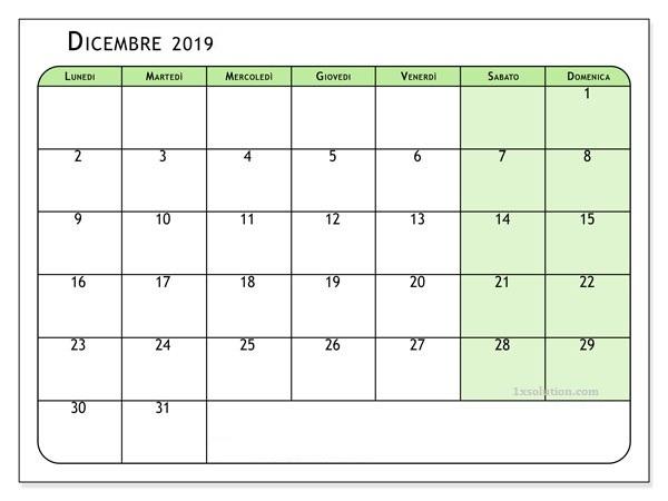 Calendario Dicembre 2019 PDF