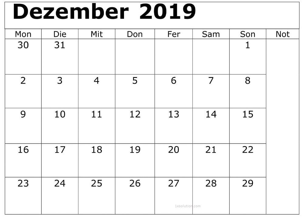 Kalender Dezember 2019 Zum Ausdrucken Erinnerungen