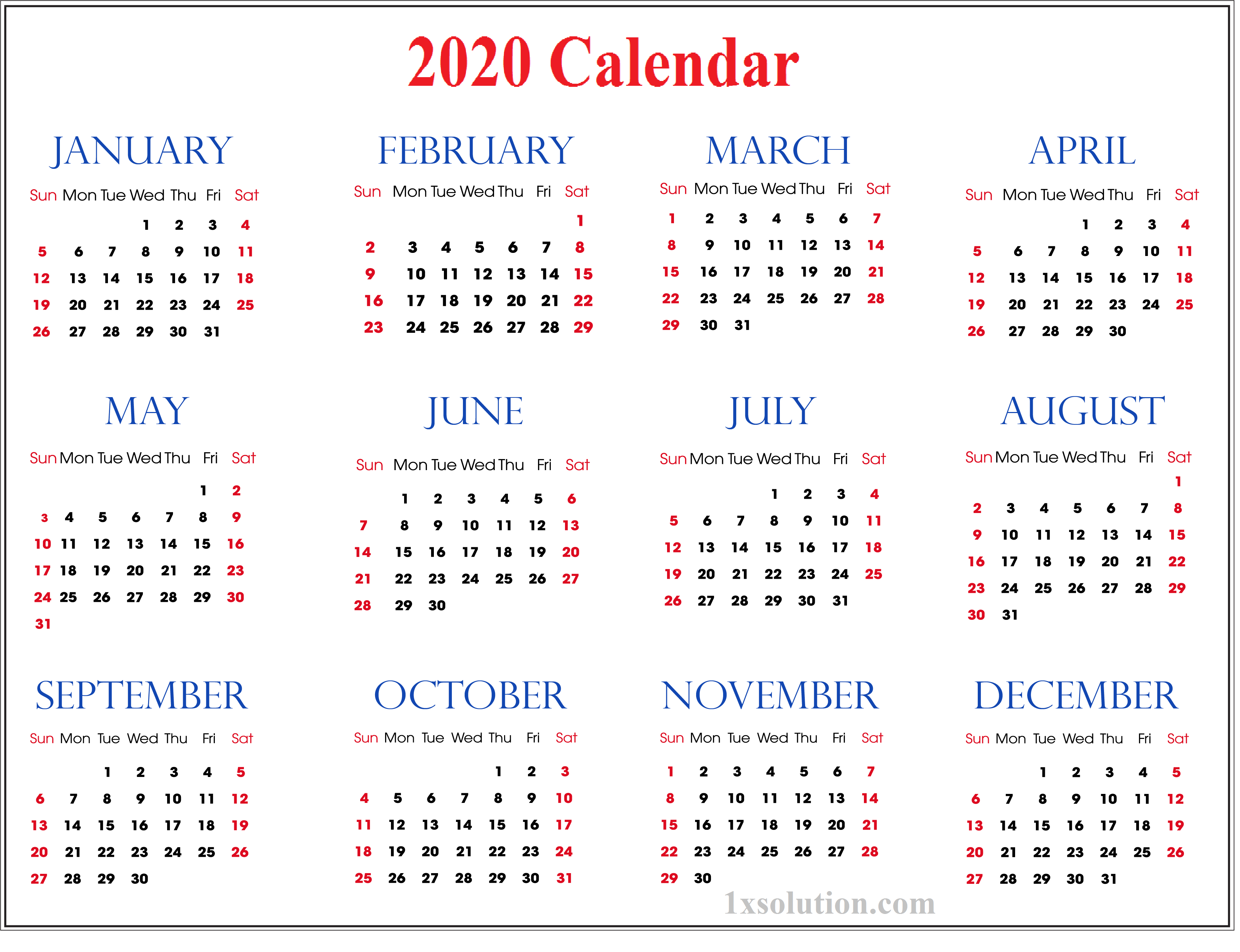 2020 daily calendar to write your important notes calendar 2020 daily calendar to write your
