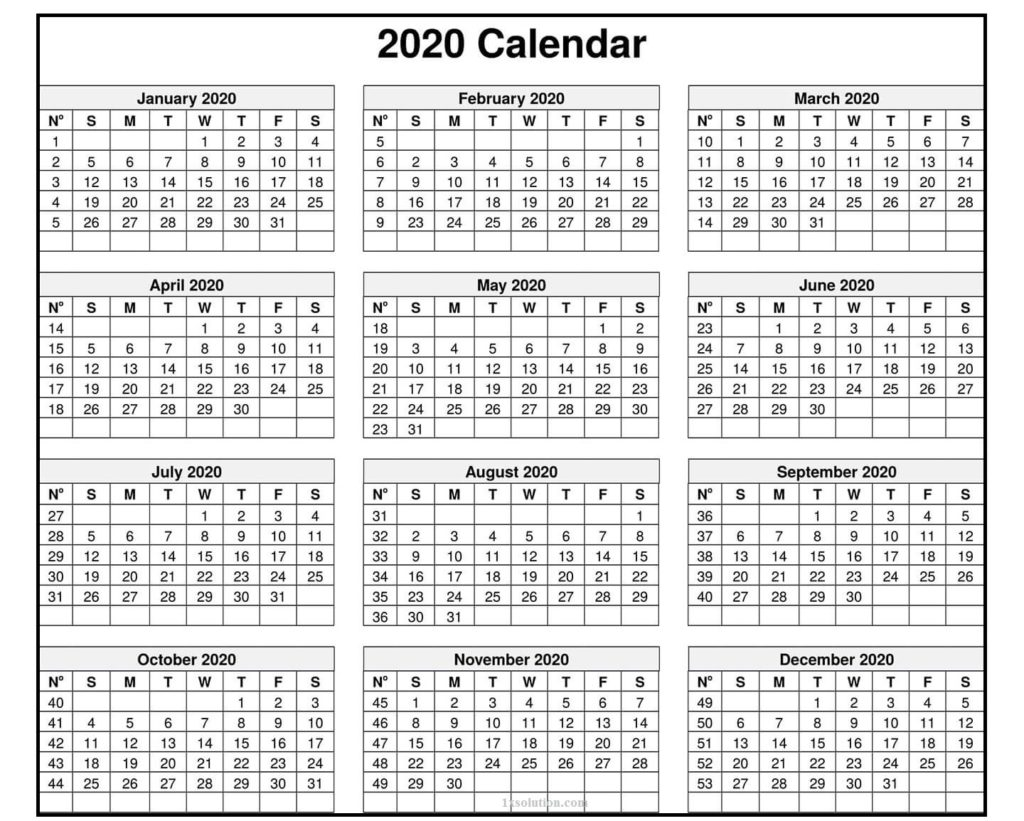 Editable Calendar 2020 For Kids