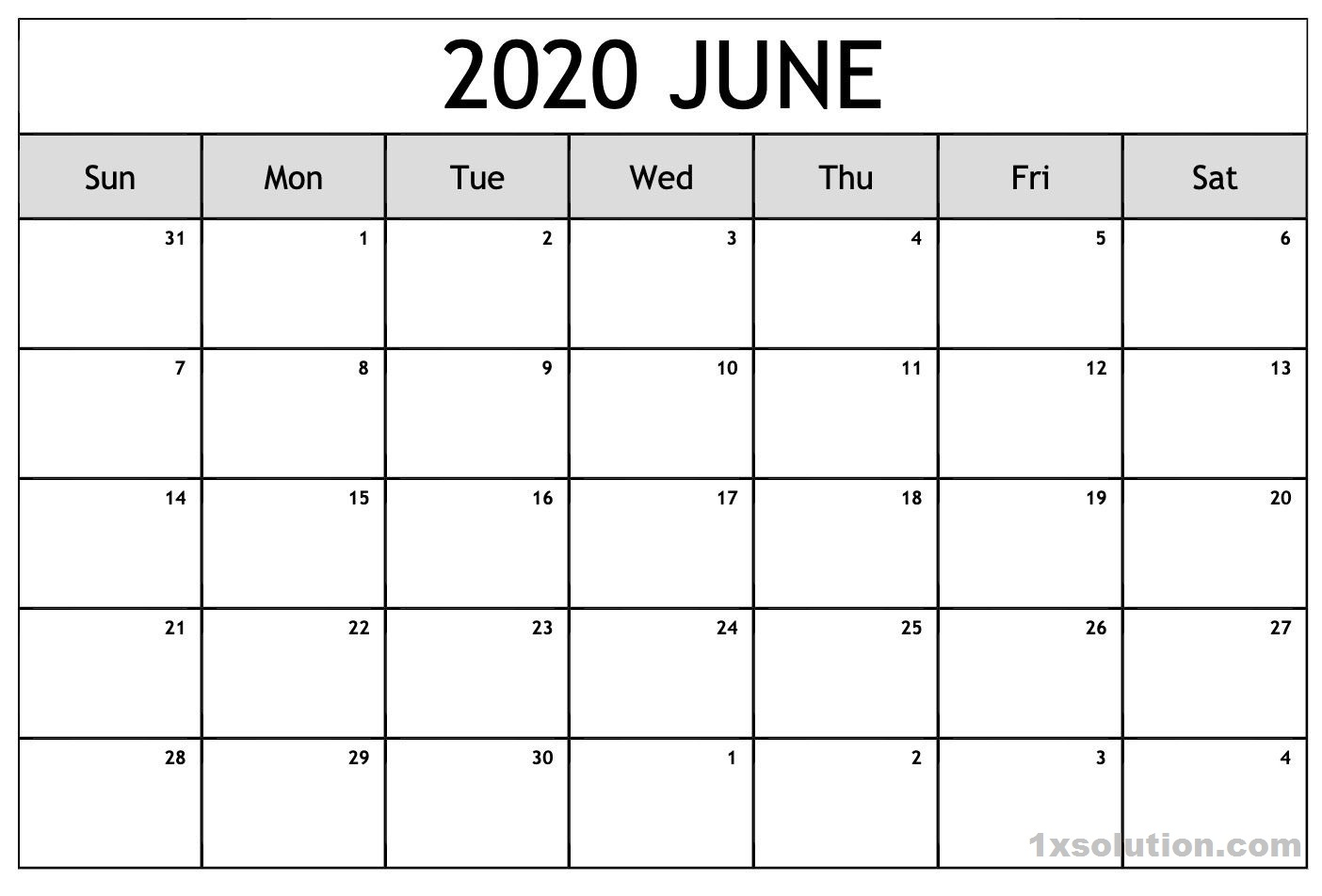June 2020 Template PDF