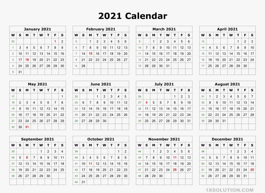2021 Daily Calendar Planner Sheet