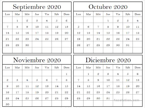 Calendario Diciembre 2020 Argentina