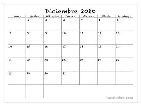 Calendario Diciembre 2020 Festivales