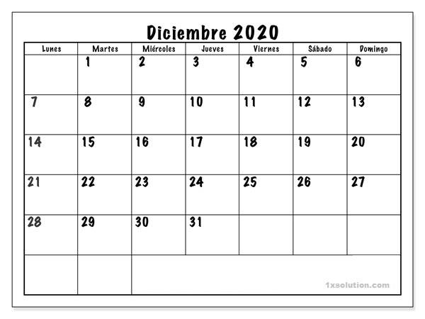 Examen Calendario Diciembre 2020 Chile
