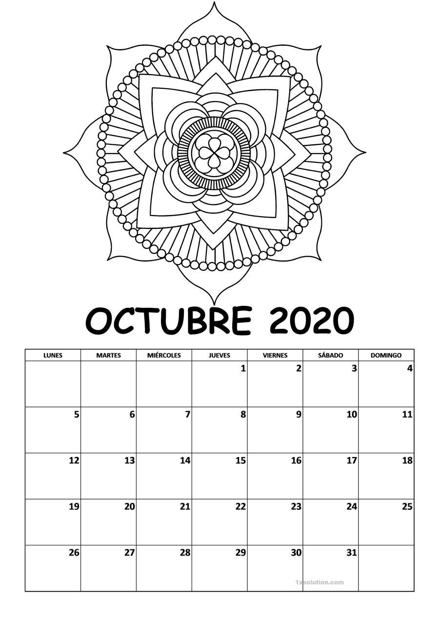 Gratis Calendario Octubre 2020 Chile
