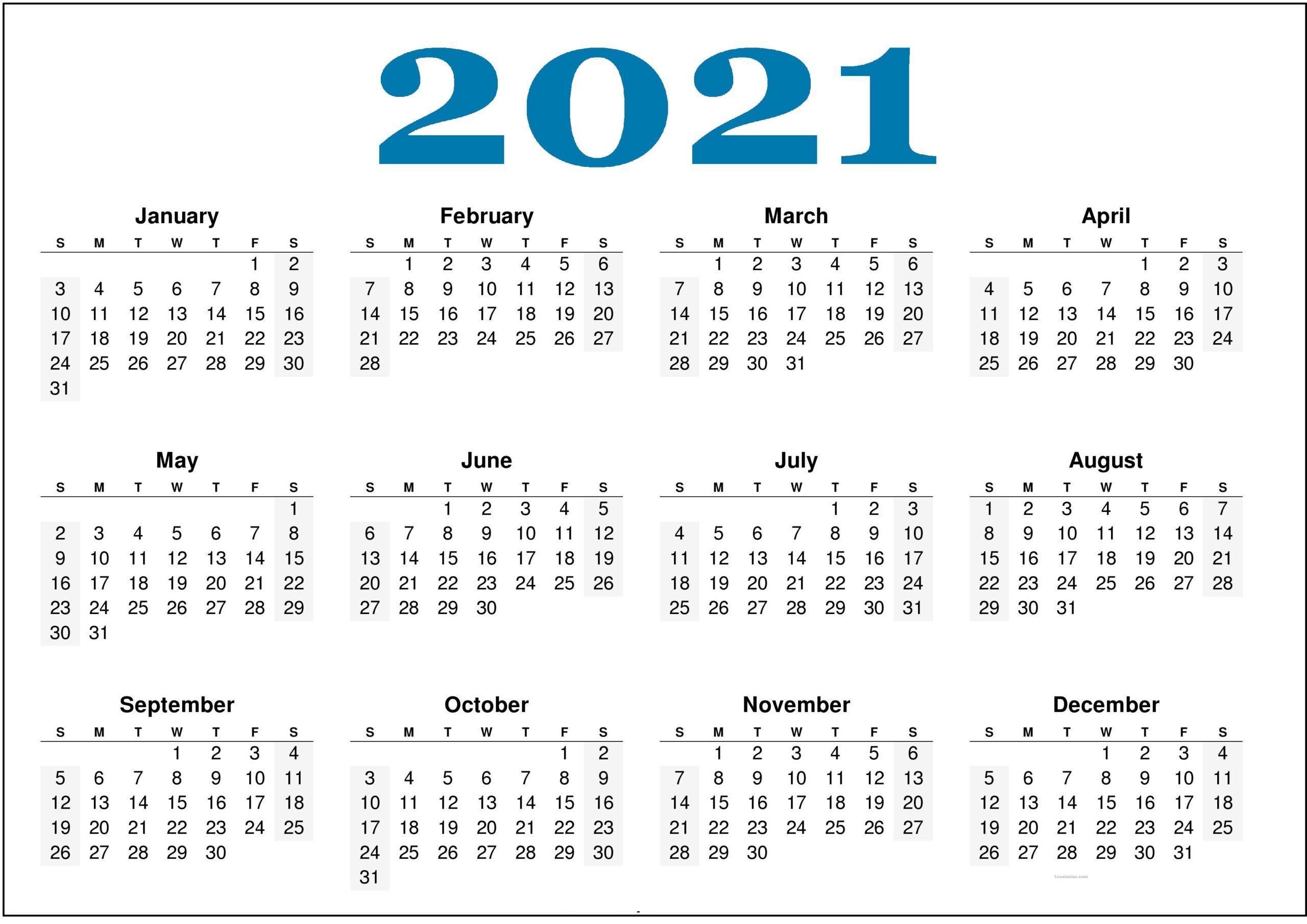 Calendar 2021 PDF