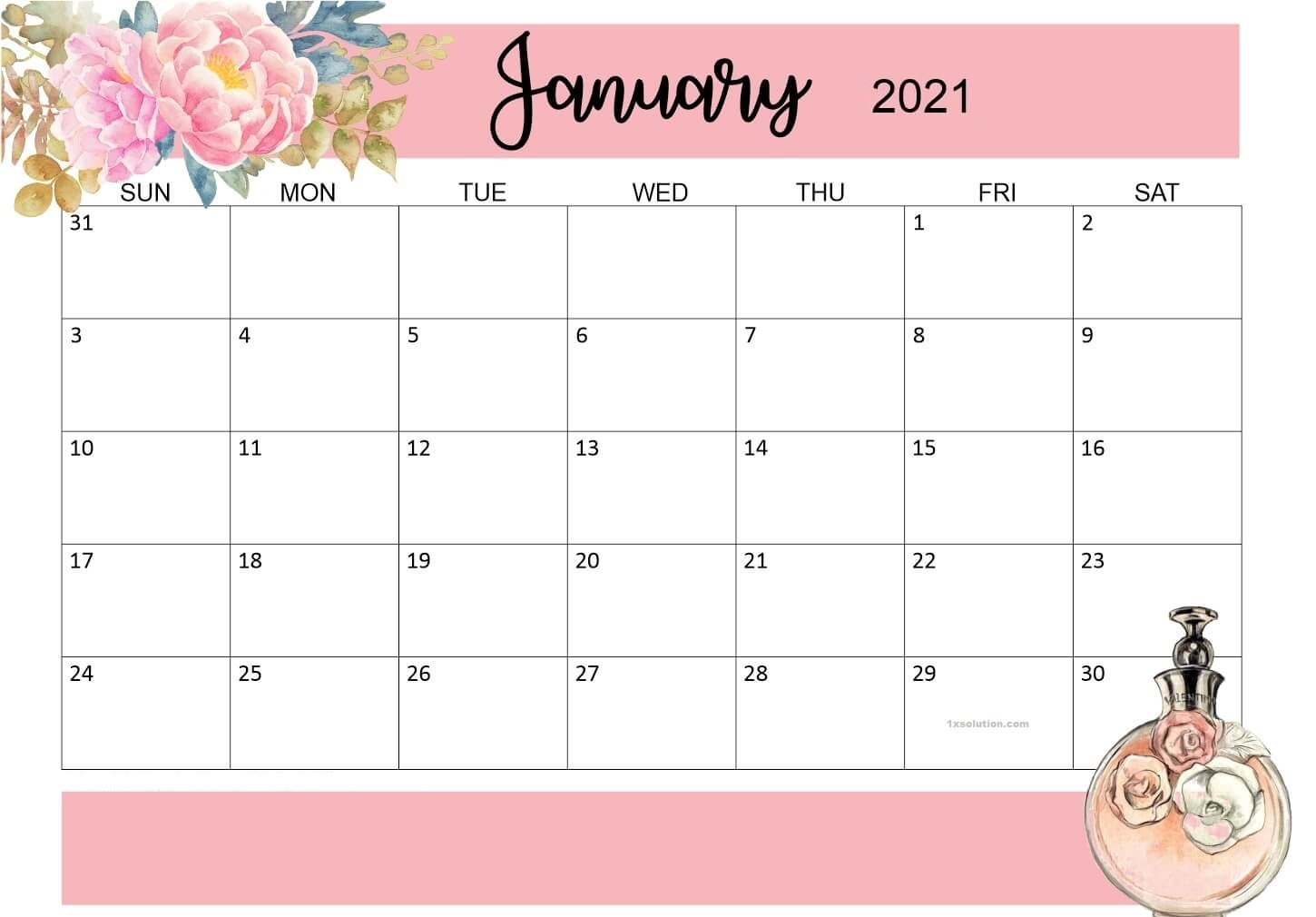 Free Printable January 2021 Calendar - For Events ...