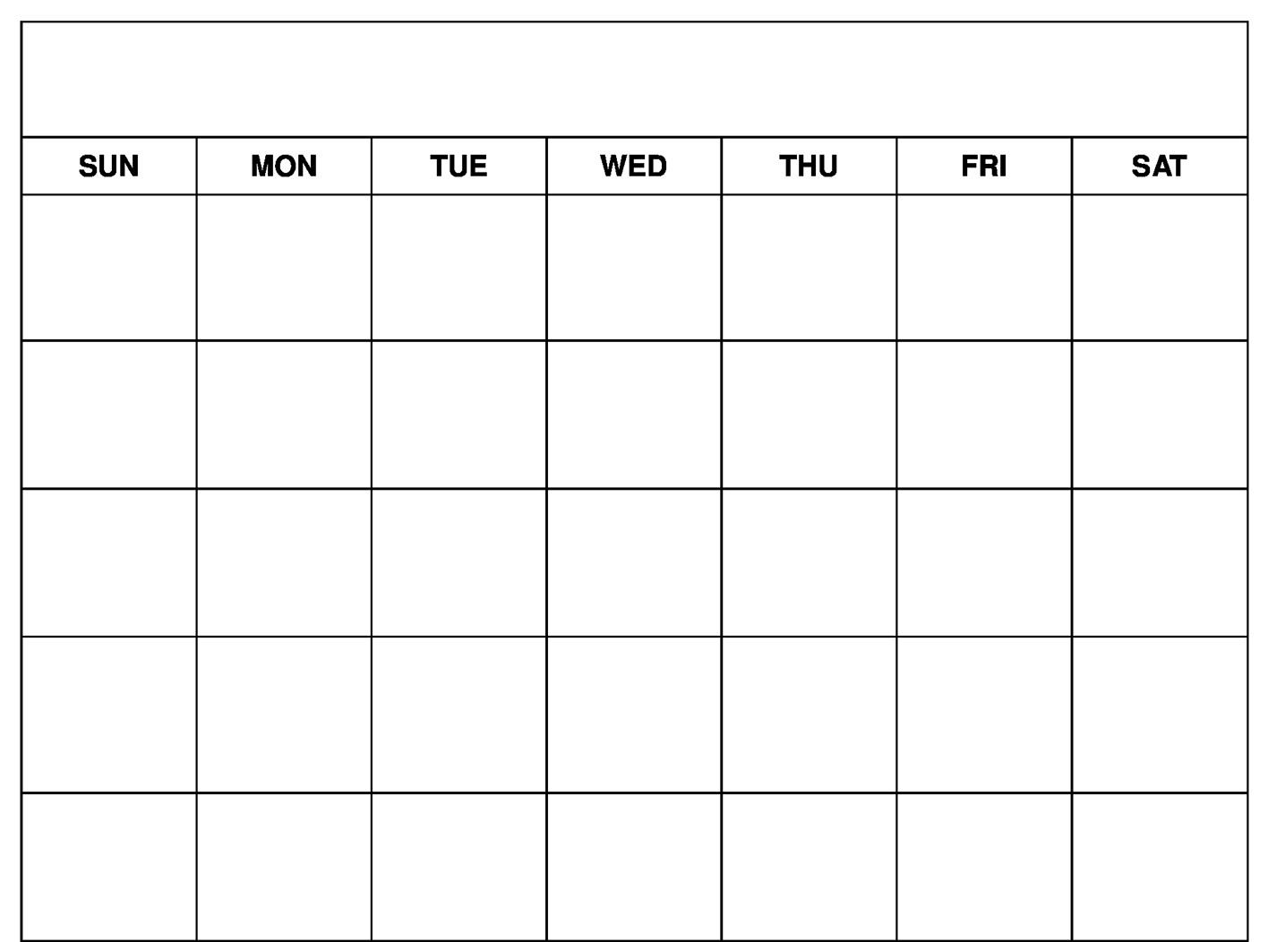 March 2021 Blank Calendar