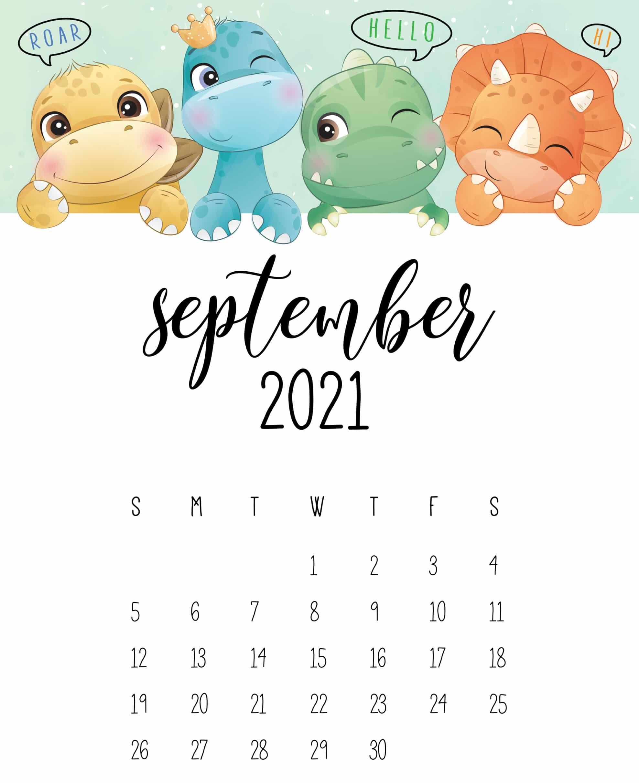 Cute September 2021 Calendar Template