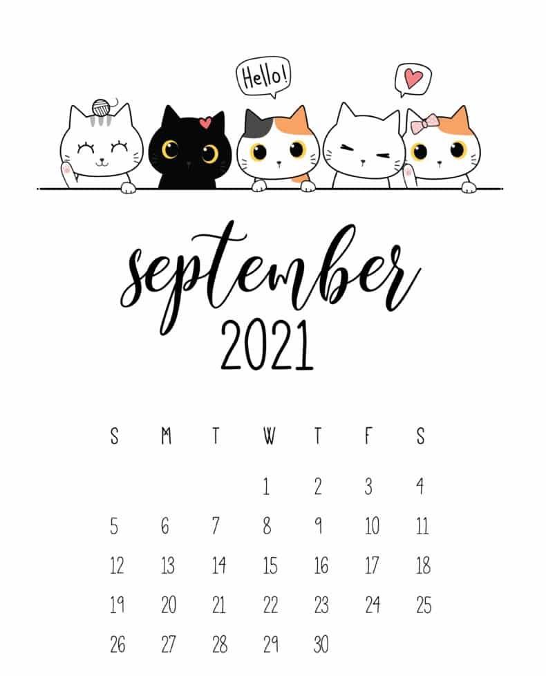 Cute September 2021 Calendar USA