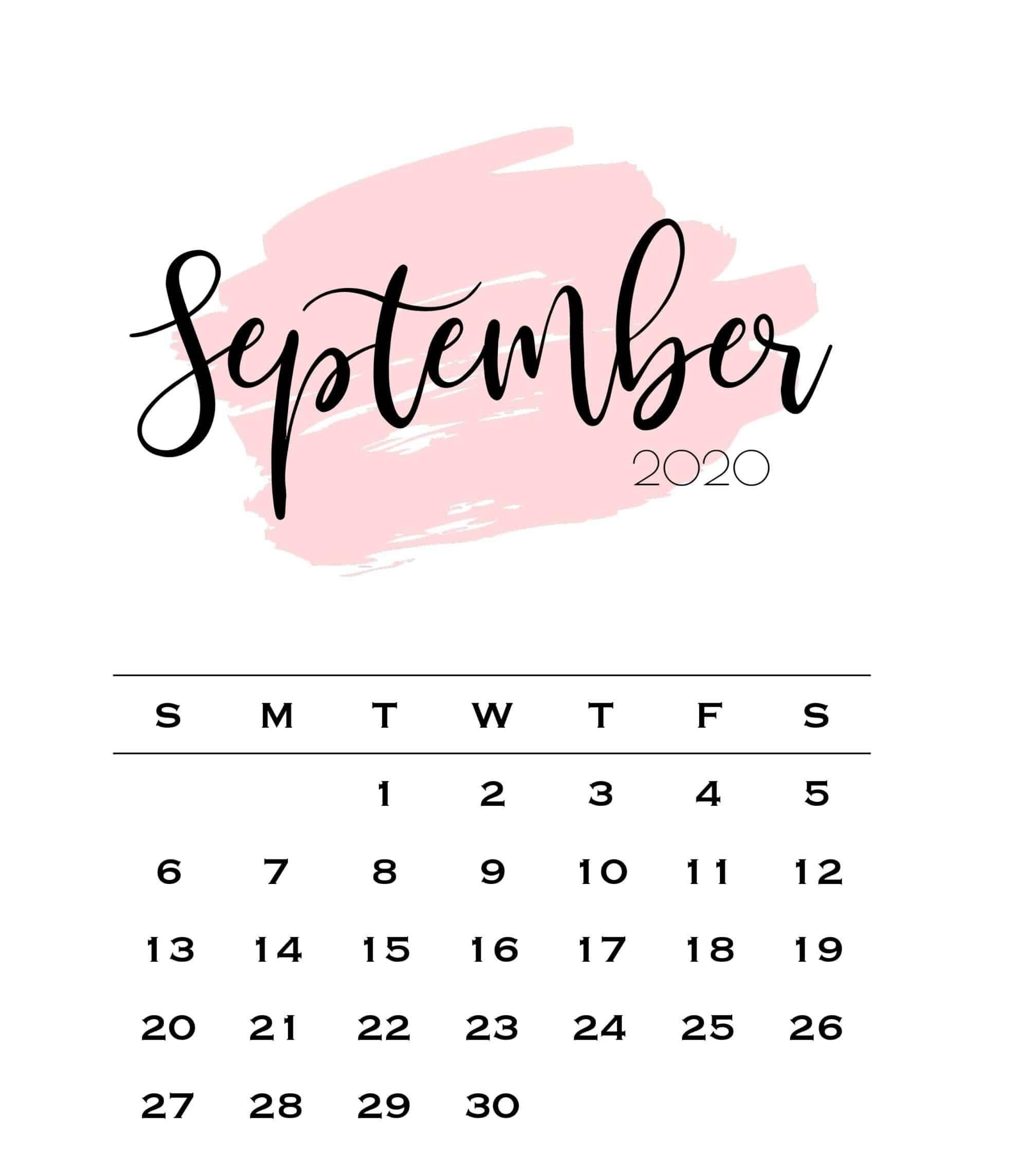 Cute September 2021 Calendar Wallpaper