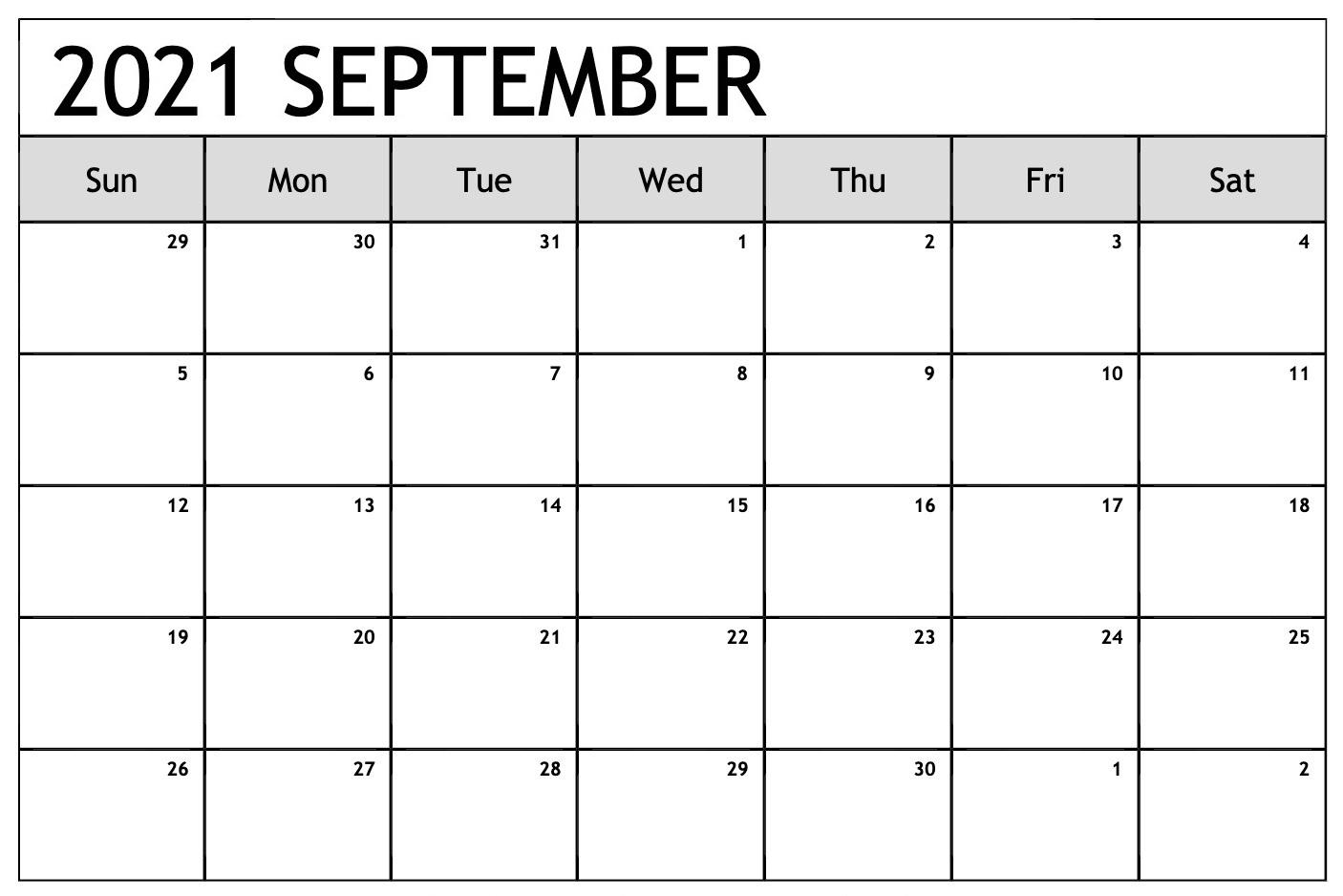 Daily September 2021 Calendar Free