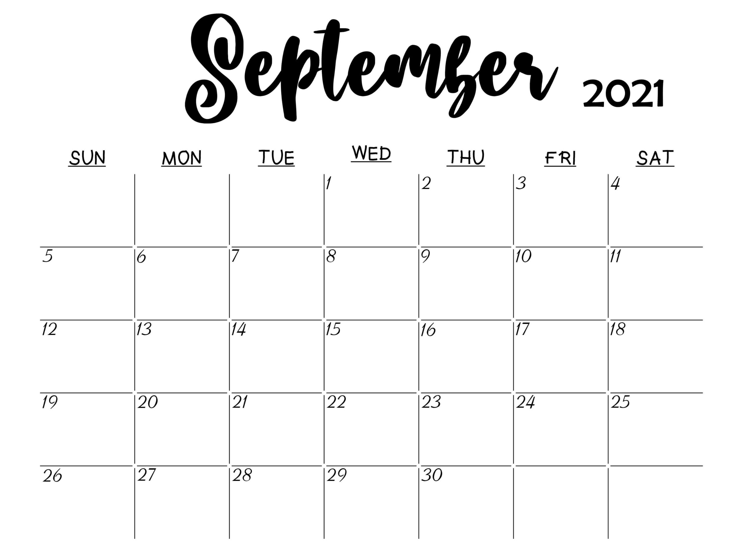 Daily September 2021 Calendar Planner