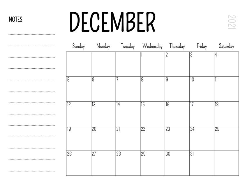 Download December 2021 Calendar