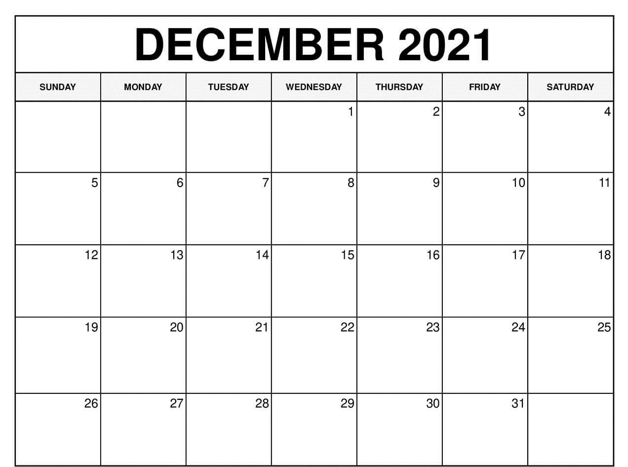 Online December 2021 Calendar