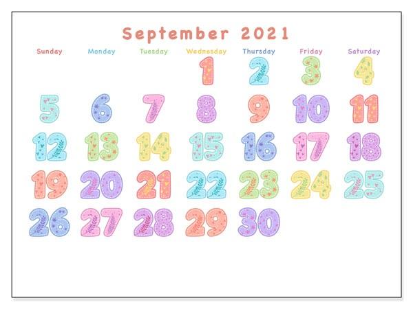 Planner September 2021 Calendar