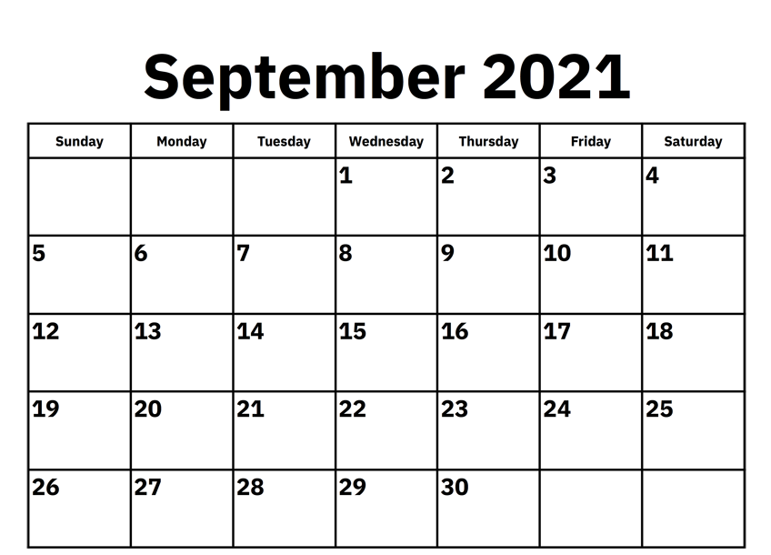 September 2021 Calendar Planner PDF